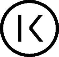 K logo header