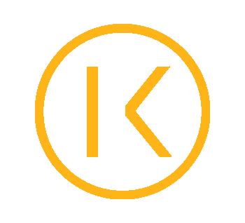 K logo yellow